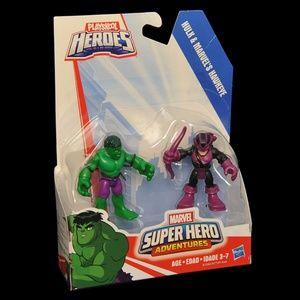 Playskool Heroes Hulk & Marvel's Hawkeye